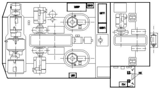 Общее устройство ЭКГ-10.